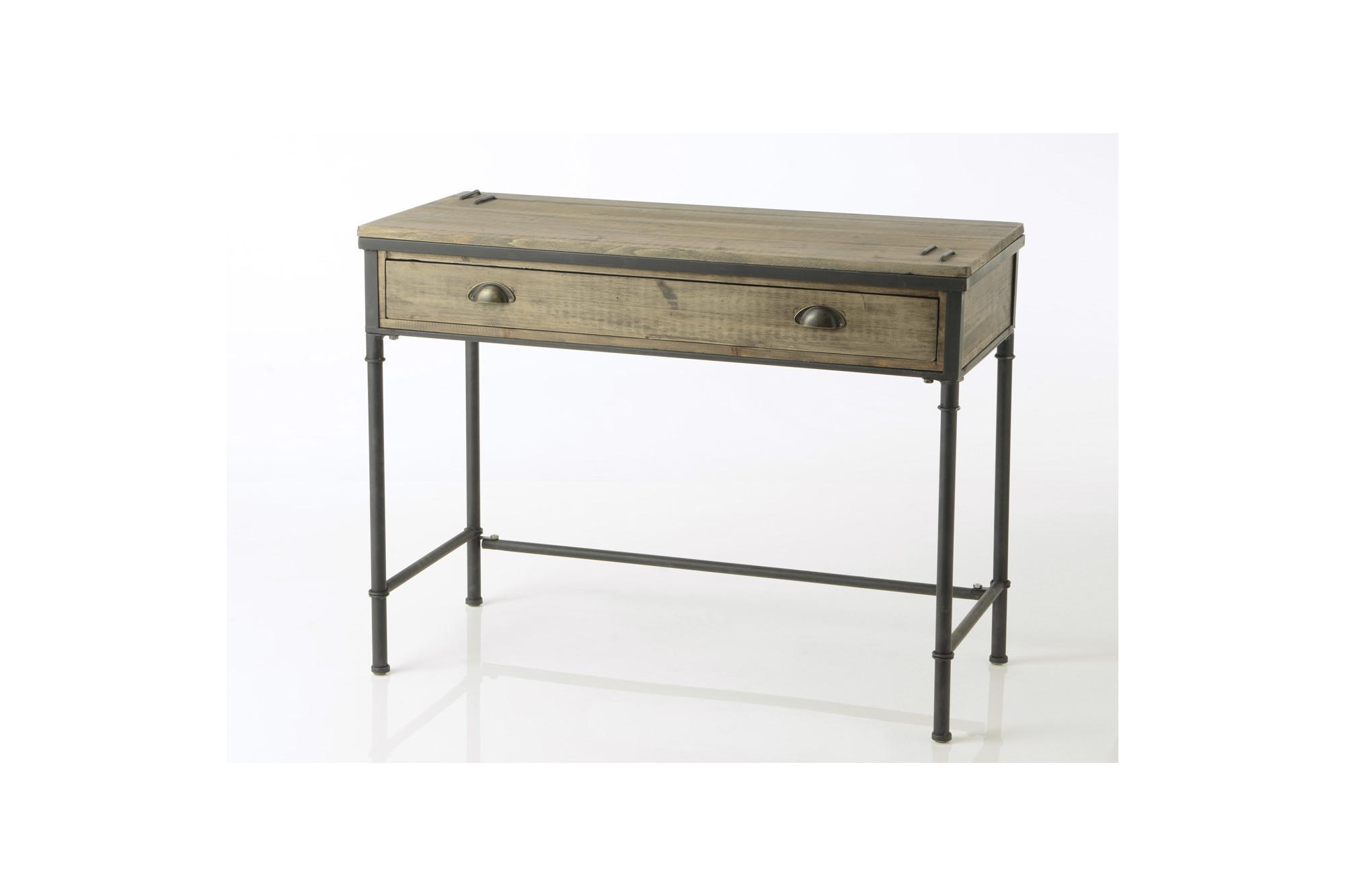 Bureau en bois et métal agar hellin