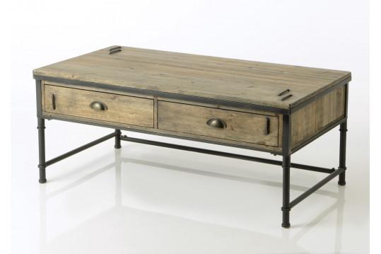 Table basse en bois et métal Agar