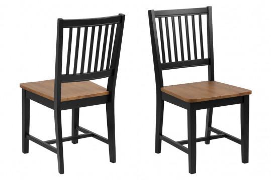 Chaises en bois foncé - PERTH (Lot de 2)