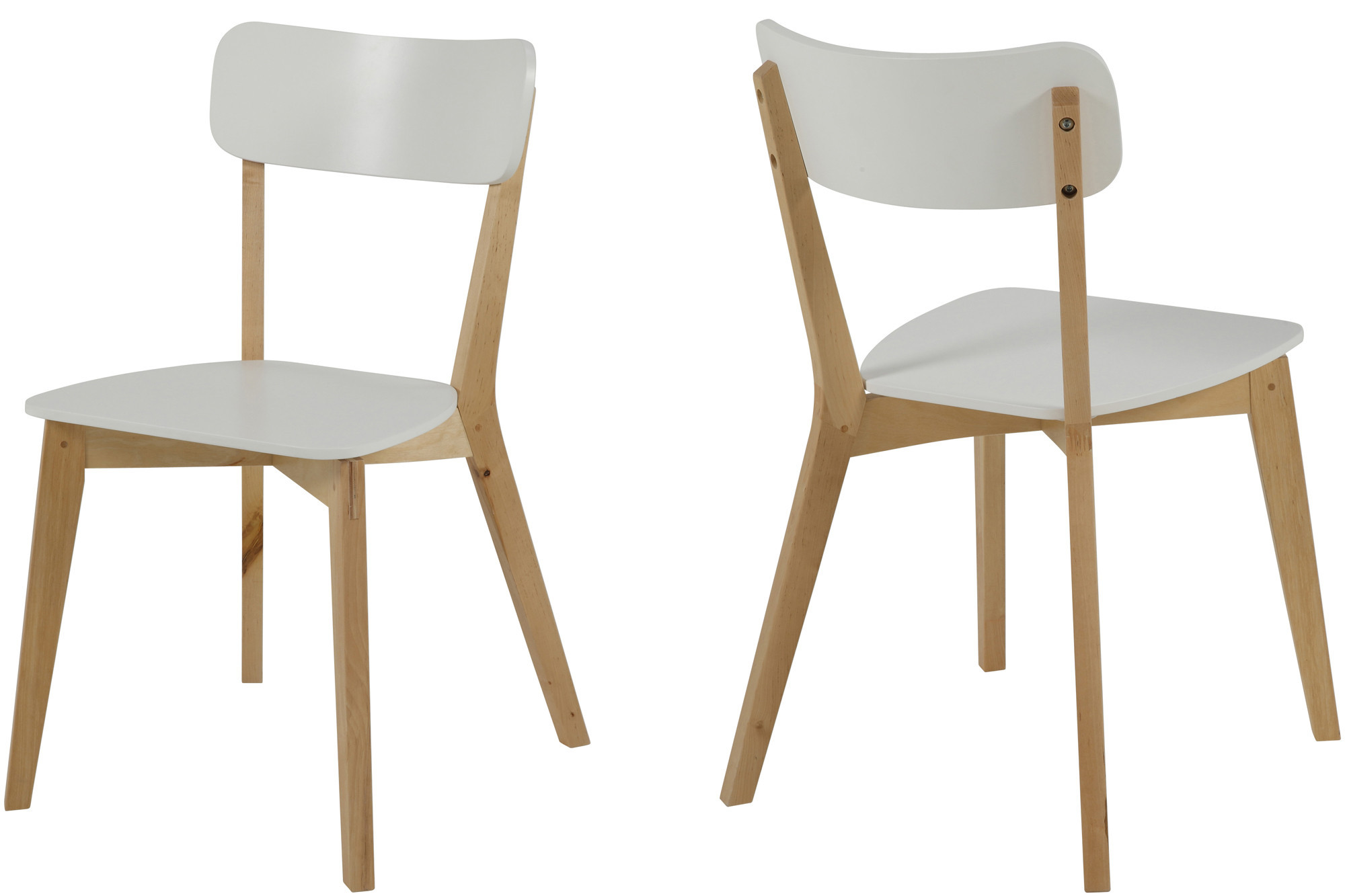 lot de 2 chaise moderne luza. Black Bedroom Furniture Sets. Home Design Ideas