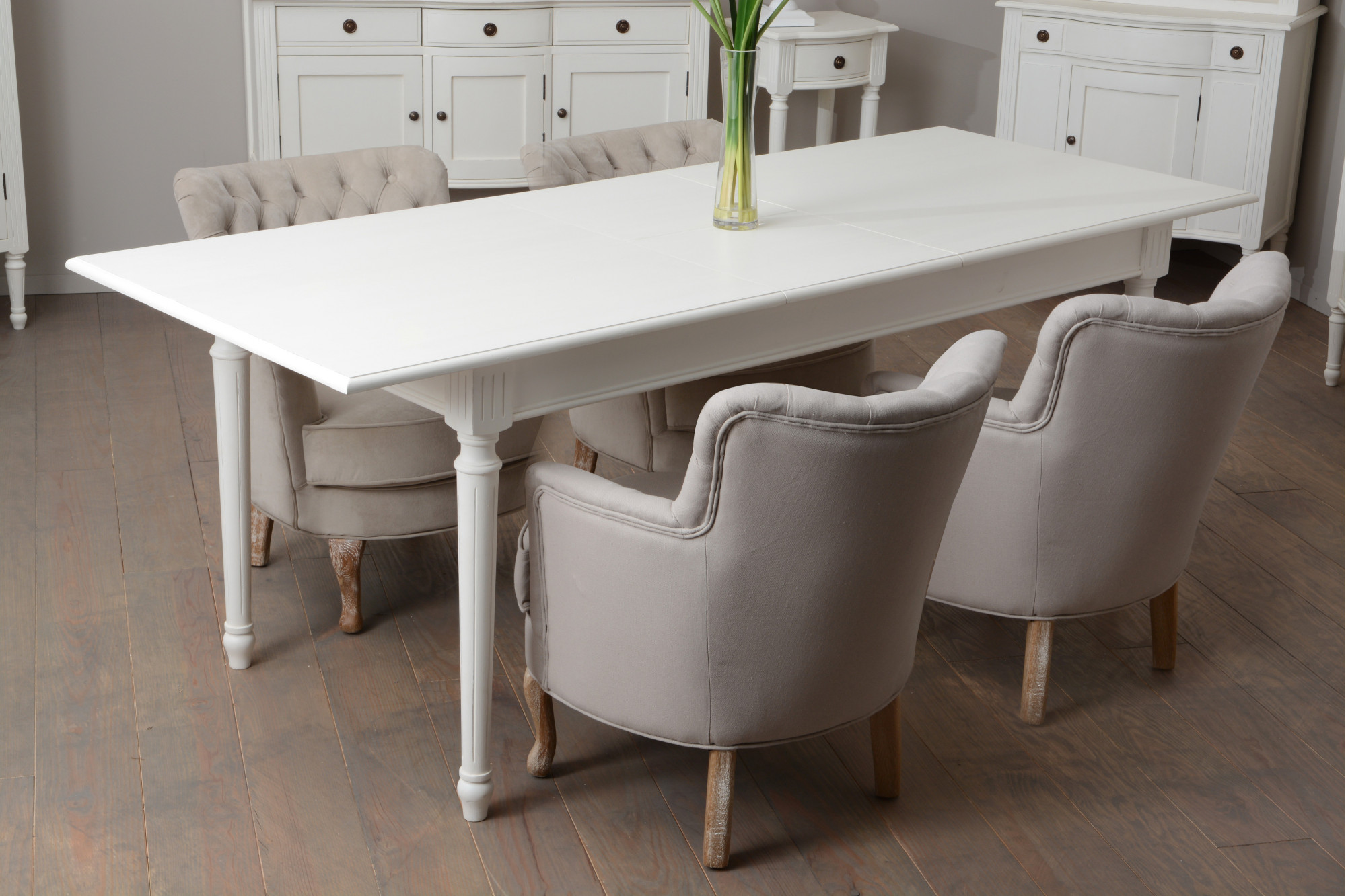 Table Extensible Bois Massif Agatha Style Romantique Hellin