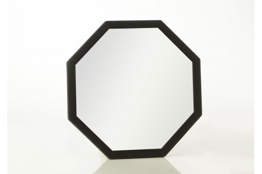 Miroir octogonale noir