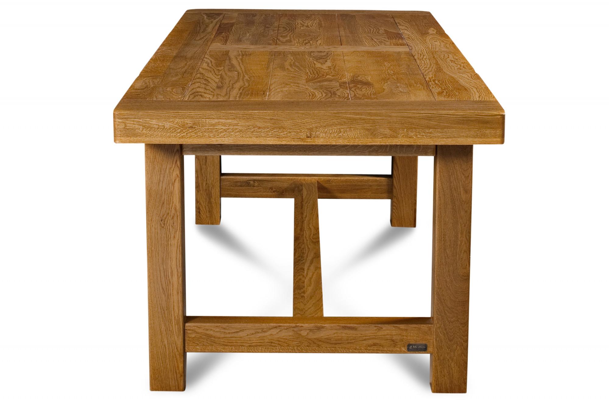 Table de Ferme en chene massif L12 + 12 chaises LA BRESSE