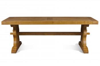 table monastère en chêne foncé