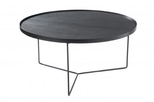 TABLE BASSE RONDE MODERNE BOIS/METAL