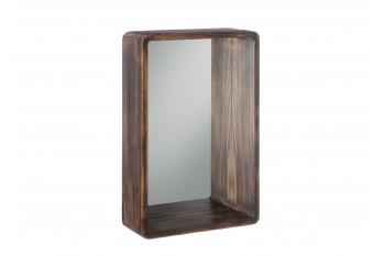Miroir mural avec cadre en bois