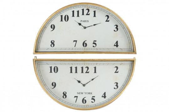 Horloge ronde Paris-New York