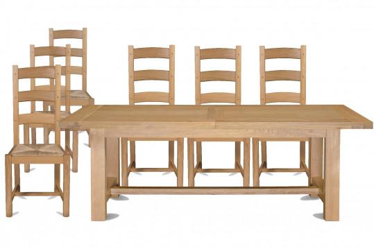 Ensemble table extensible Mansart + 6 chaises La Bresse