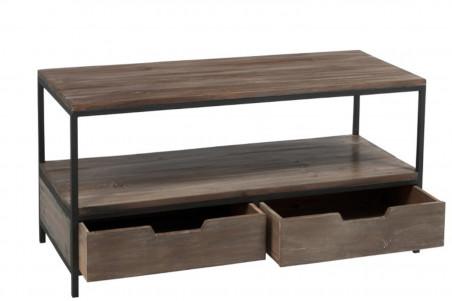 Table Basse En Bois Et Métal Au Style Industriel Hellin