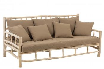 canapé 3 places en bois flotté - NOÉ