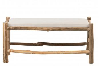 Banc en bois flotté avec coussin - NOÉ