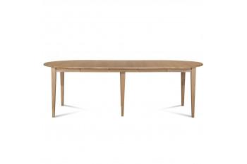 Table ronde VICTORIA 6 pieds fuseau 105 cm + 3 rallonges bois