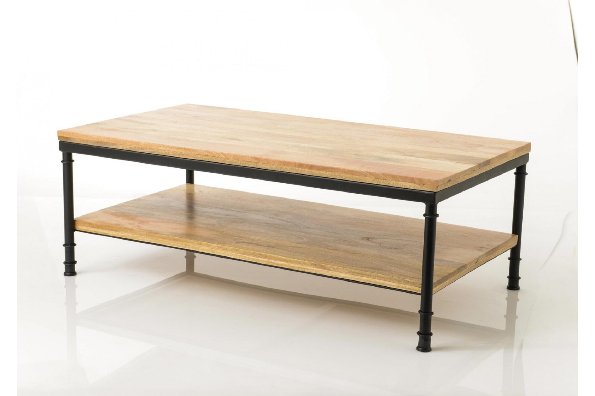 Table De Salon Pieds Métal Noir Hellin
