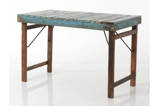 table rectangulaire pliable en bois recycl malga hellin. Black Bedroom Furniture Sets. Home Design Ideas