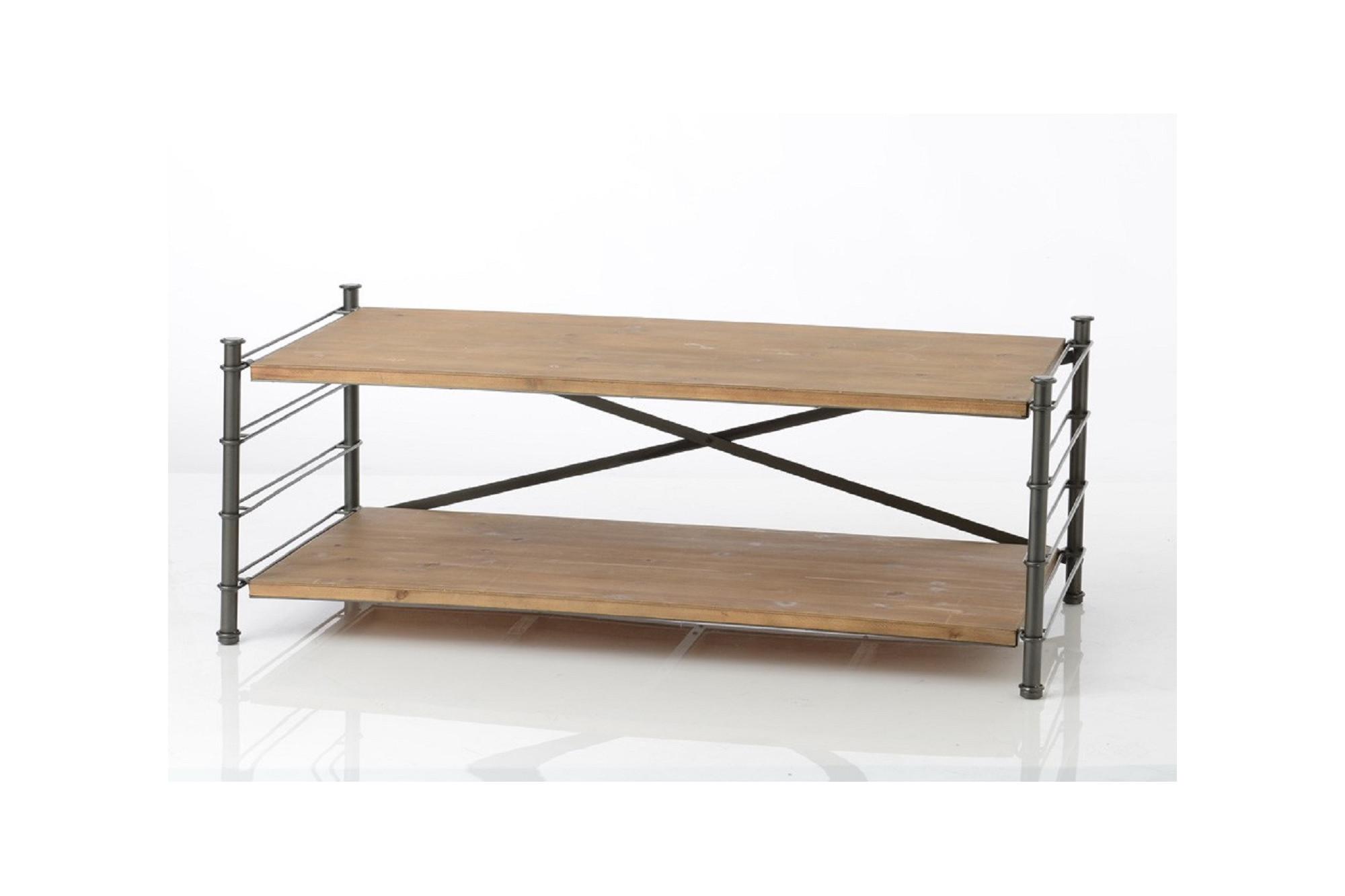 table basse modulable en m tal et bois hellin. Black Bedroom Furniture Sets. Home Design Ideas