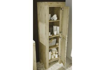 Colonne salle de bain en bois massif - 50 cm - MARKLE