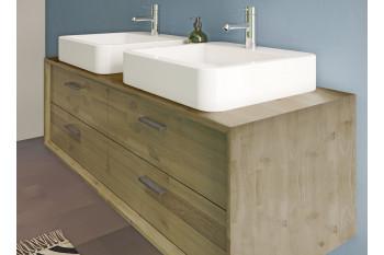 Meuble de salle de bain sous vasque en bois 120 - FUJI