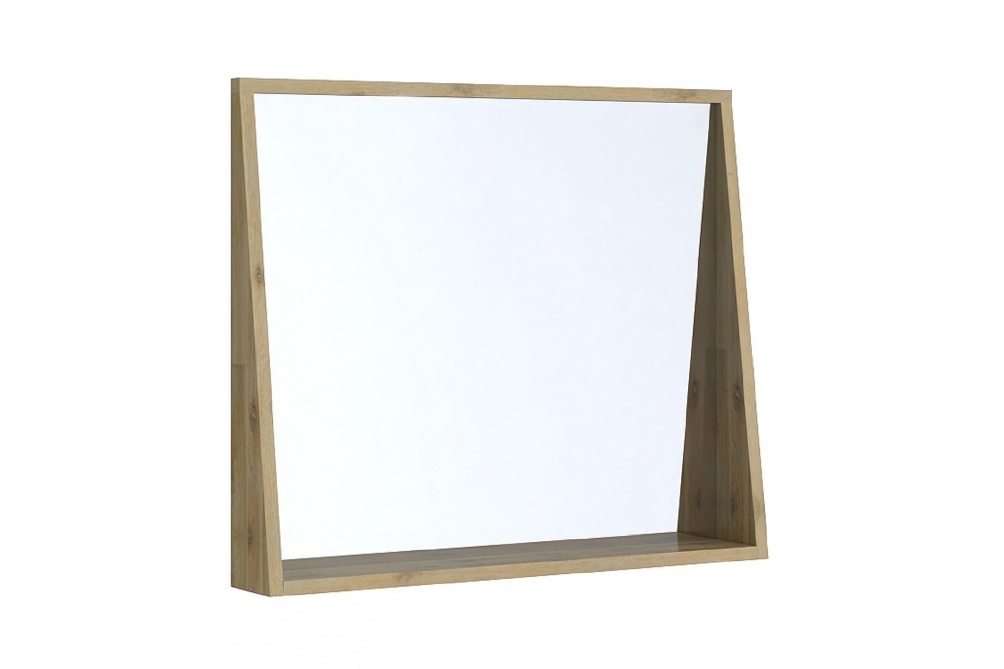 Tablette Salle De Bain 80 Cm miroir de salle de bain en bois massif fuji - hellin