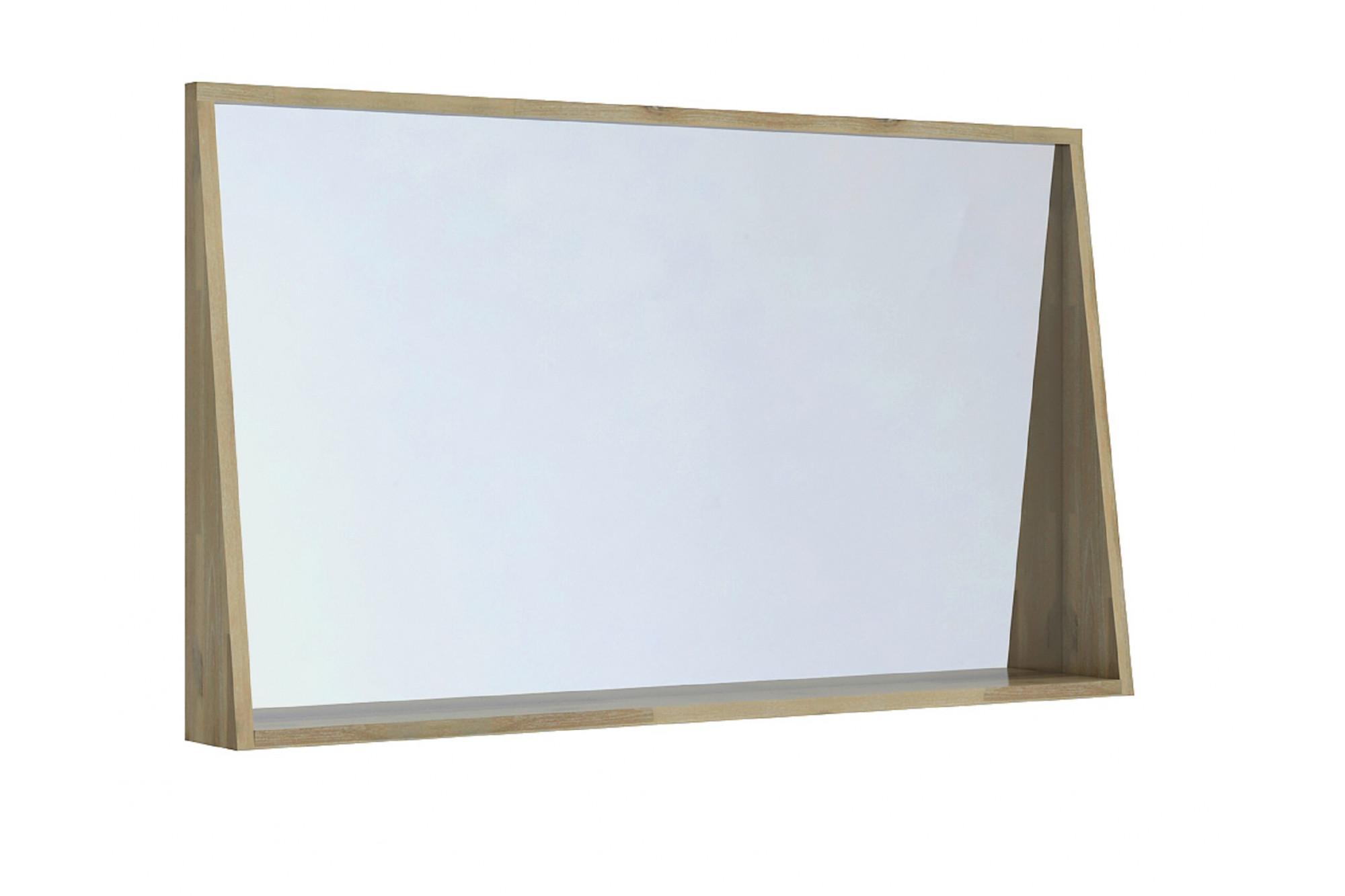 Miroir Salle De Bain 120 grand miroir pour salle de bain en bois massif 120 cm - hellin