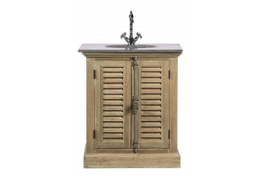 meubles salle de bain bois exotique meuble de salle de bain en bois aux portes persiennes