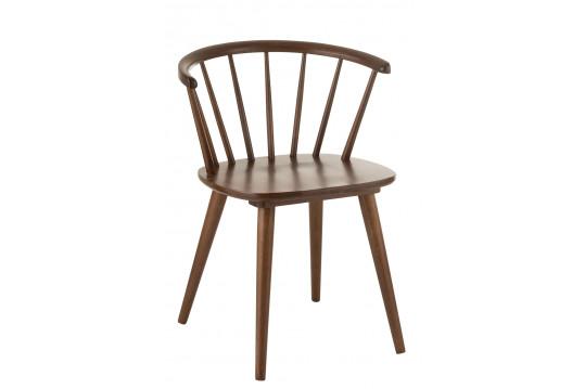 Chaises en bois à l'allure rétro - SEVENTIES (Lot de 2)