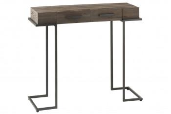 Console en bois métal 2 tiroirs - Aillette