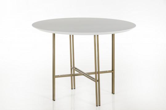 TABLE RONDE MODERNE EN BOIS ET METAL - BRIGHTON