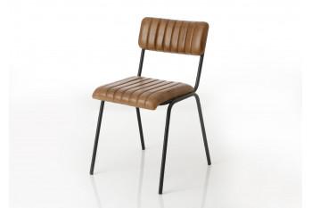 Chaise vintage métal/cuir