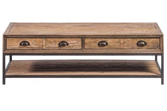 Table basse en chêne recyclé - Balma