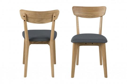 Chaises moderne en bois et tissus (Lot de 2) - PAIXA