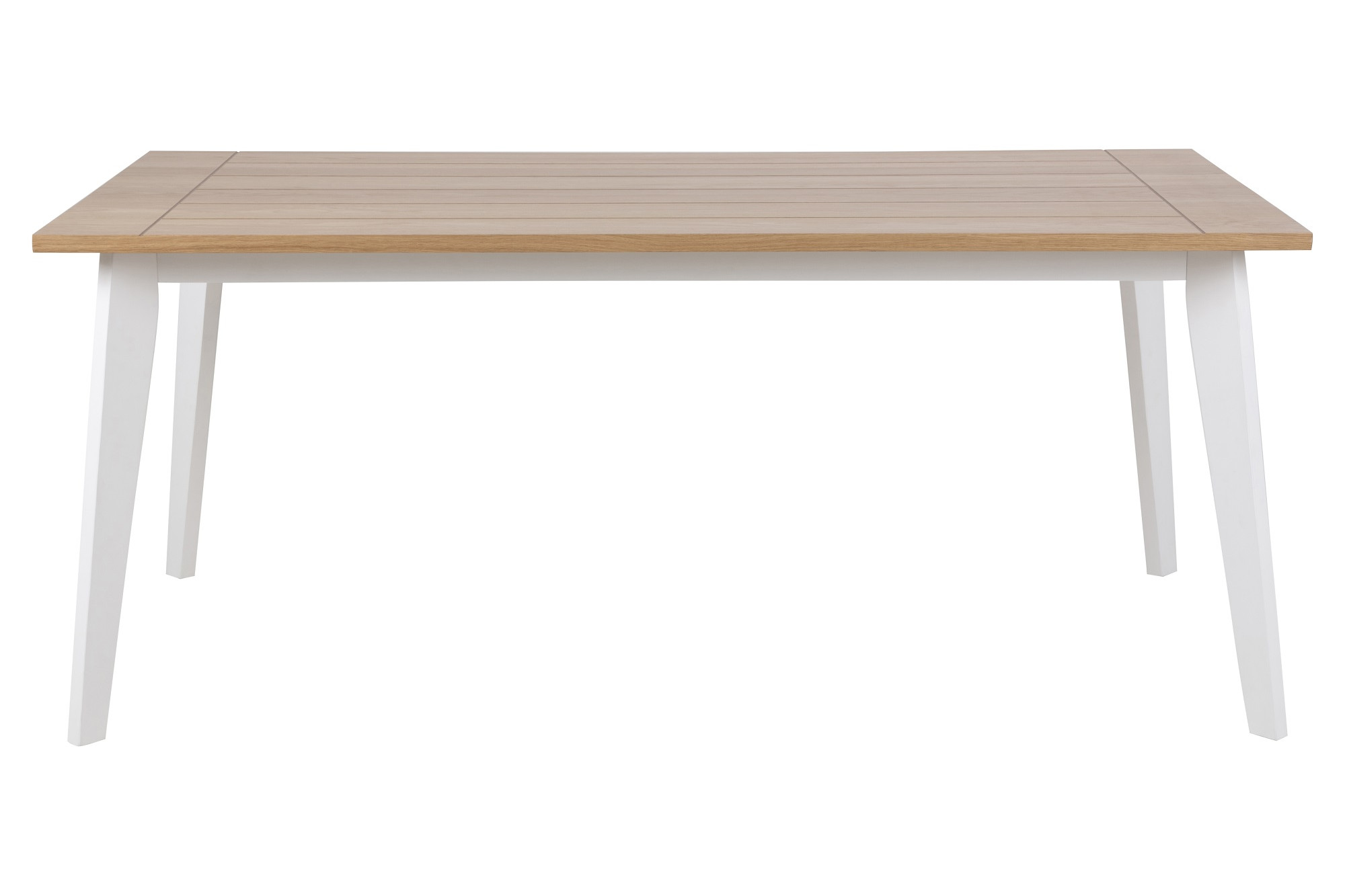 Table Blanche Pied Bois table en bois clair et blanche - hellin