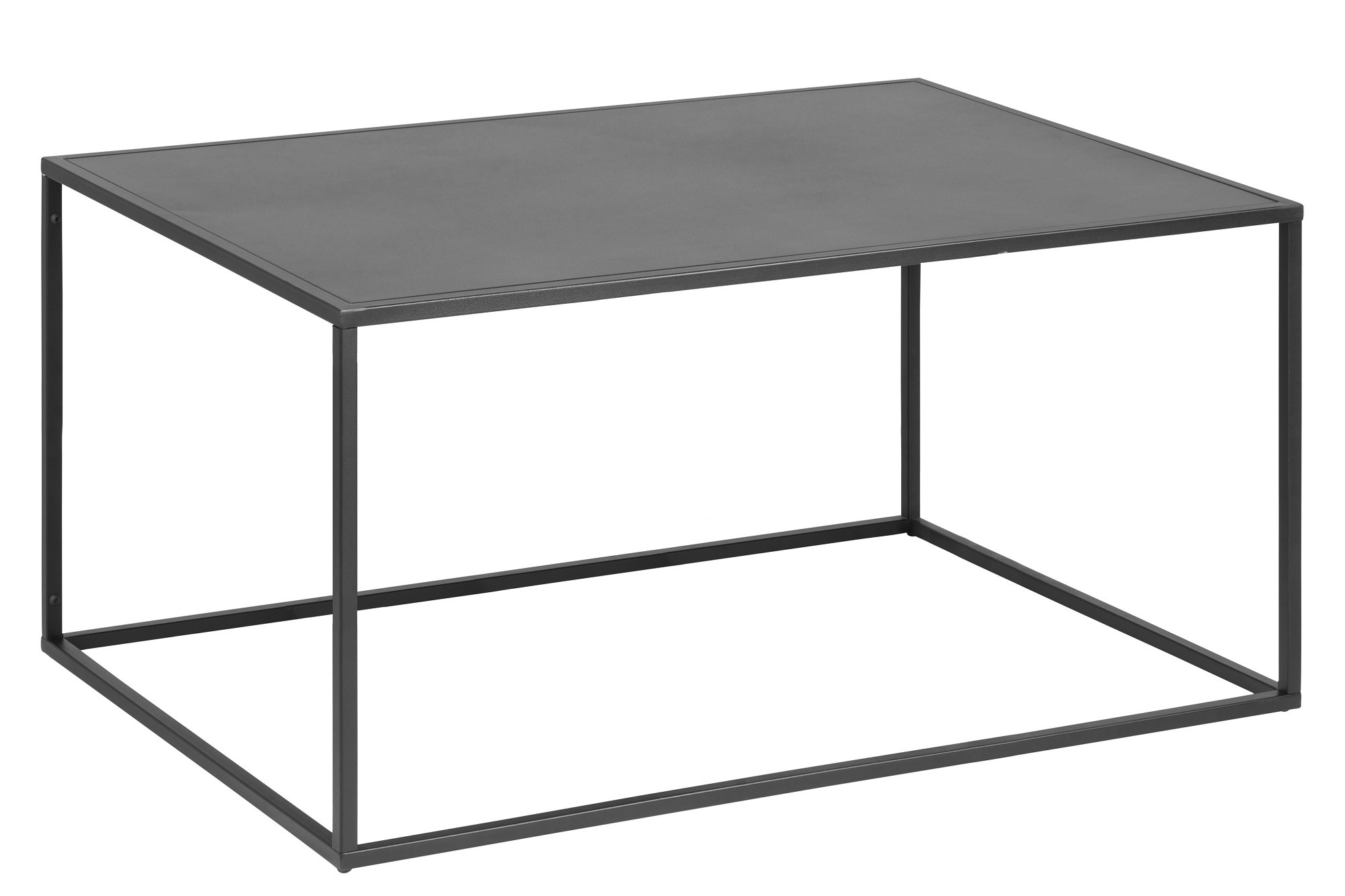 Table Basse De Salon En Metal Noir Hellin