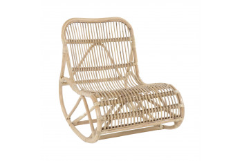 Rocking-chair en rotin naturel - MIKA