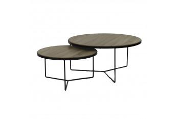 Table basse gigognes en bois et métal - MISO