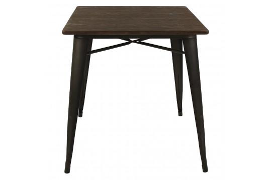 Table carré en bois et métal noir - LITO