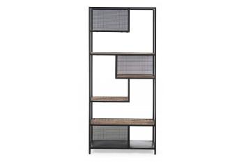 Bibliothèque moderne en métal et bois 6 étagères - GALIC