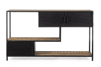 Console en bois et métal 3 portes - GALIC