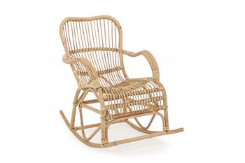 Rocking chair en rotin - CARMELIE