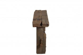 Console brute en bois massif recyclé