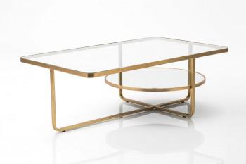 Table basse en métal et verre GALILÉE