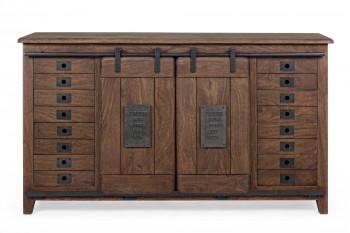 Buffet en bois et métal 2 portes/4 tiroirs - ESTAMINET