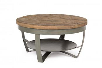 Table basse ronde en bois et métal - COSTALE