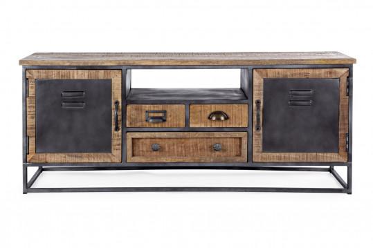 Meuble TV en bois et métal - BRONX