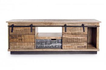 Meuble TV en bois et métal - HARLEM