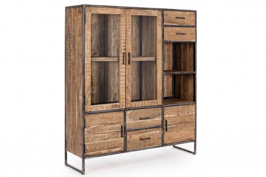 Buffet en bois et métal 4 portes/4 tiroirs - CONNEMARA