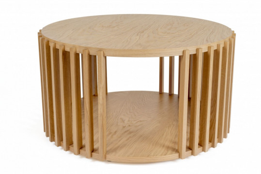 Table basse ronde en bois - DUBLIN