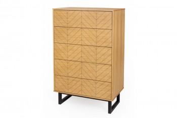 Commode en bois 5 tiroirs - KALMAR