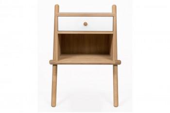 Table de nuit en bois 1 tiroir / 1 niche - TURKU
