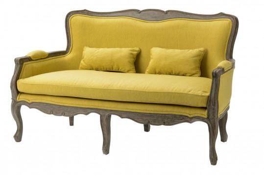 Canapé de style en tissu et bois - ROMANCE