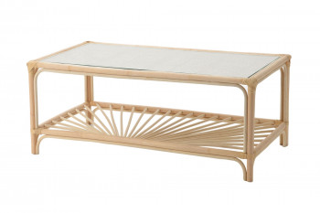 Table basse en rotin naturel - MIKA